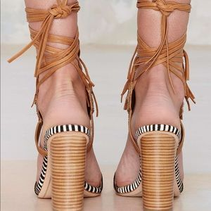 Sam Edelman tribal heeled sandals
